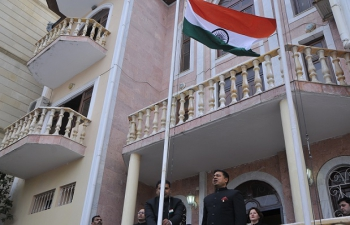 Flag Hoisting Ceremony on the occasion of the 67th Republic Day of India
