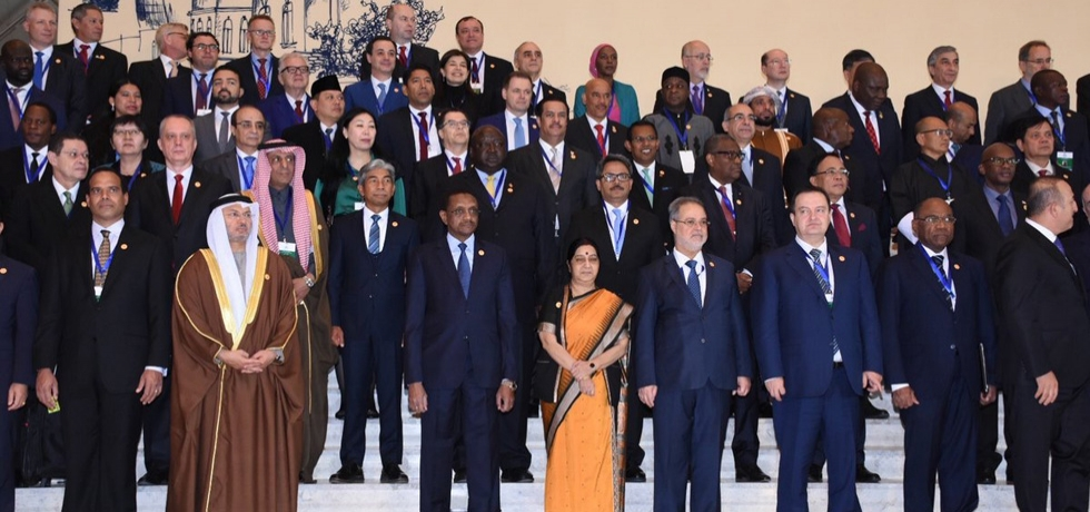 EAM at the NAM Ministerial Meeting in Baku (05 Apr 2018)