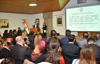 Celebration of Indian Council for Cultural Relations (ICCR) Day on 09 April 2019 at the premise of the Embassy of India, Baku.