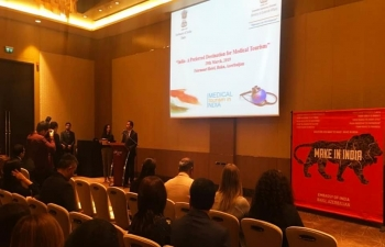 """India- A Preferred Destination for Medical Tourism""  A medical tourism seminar held by Embassy of India, Baku at Fairmont Baku Flame Towers on 29 March 2019."