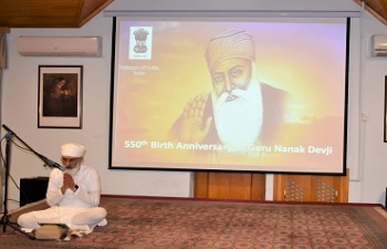 Celebrations of the 550th Birth Anniversary of Guru Nanak Devji on 16/4/2019.