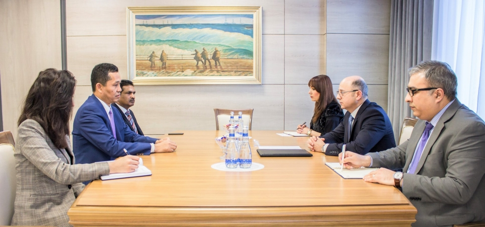 Ambassador met H.E. Parviv Shahbazov, Minister of Energy to discuss issues of mutual interest