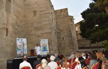 Embassy of India, Baku organized an event on 'Meditation and Rajayoga' by Didi Santosh from Brahma Kumaris, on 21 May 2019 at Shirvanshah Palace, Icharishahar, Baku.
