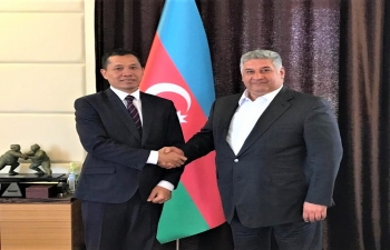 Ambassador met Minister of Youth and Sport H.E. Mr. Azad Rahimov and discussed issues of mutual interest.