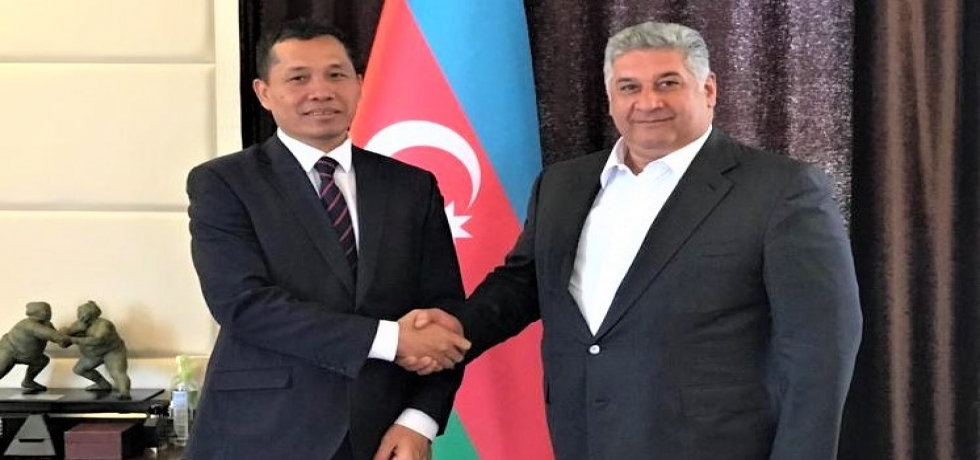 Ambassador met Minister of Youth and Sport H.E. Mr. Azad Rahimov