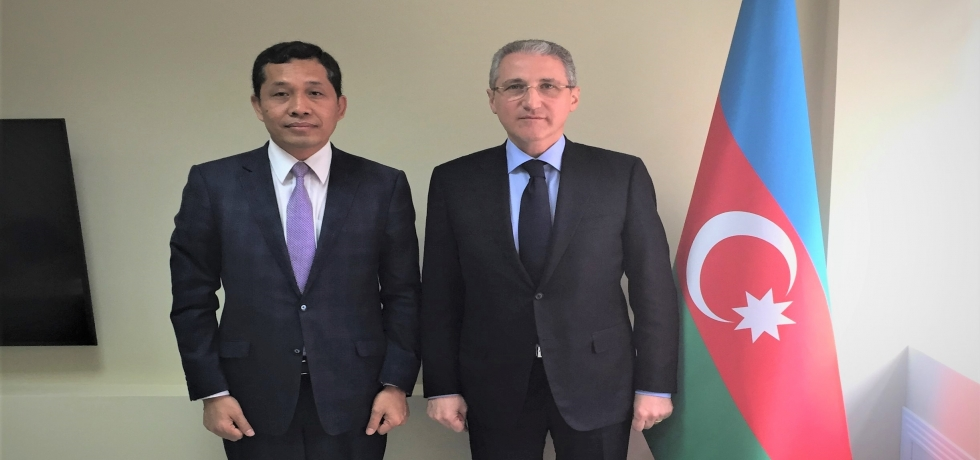 Ambassador called on H.E. Mr. Mukhtar Babayev, Minister of Ecology and Natural Resources of the Republic of Azerbaijan and co-chair of the India- Azerbaijan Inter Governmental Commission.