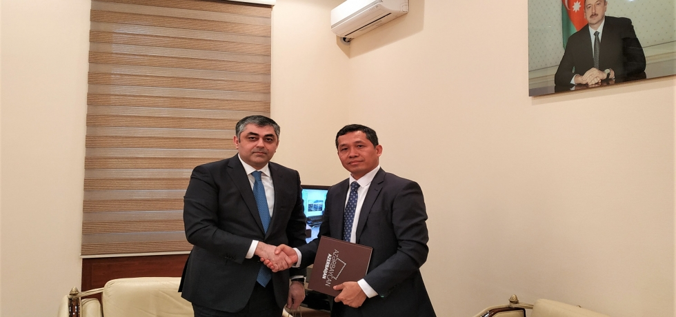 Ambassador called on H.E. Mr. Ramin Guluzade Minister of Transport, Communications and High Technologies of the Republic of Azerbaijan.