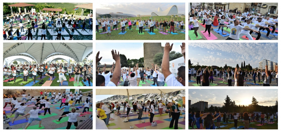 Embassy of India in Baku organized an enriching Yoga Sessions at 17 different locations in Azerbaijan as part of celebration of #IDY2019