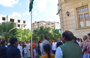 Embassy of India in Baku celebrates 73rd Independence Day of India with Indian community and Friends of India.