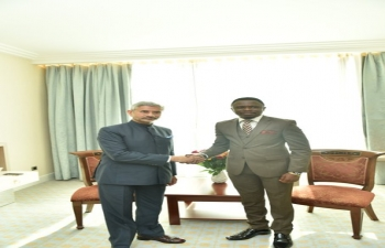 Meeting between Hon'ble EAM and the Deputy Minister of Foreign Affairs of Kenya