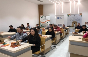 Solar Lamp Workshop being carried out by the Embassy of India in Baku at Baku Youth Centre.