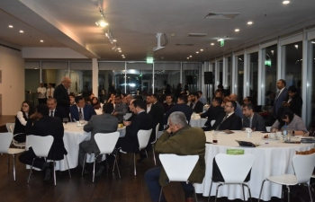 B2B meeting of delegates from Confederation of Indian Industry with their counterparts from Azerbaijan organised by Embassy of India, Baku which was followed by Business Symposium.
