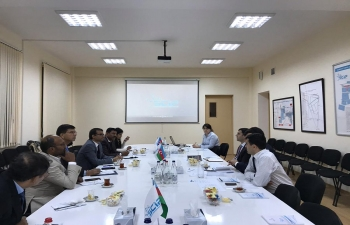 Delegates from CII  led by Embassy of India, Baku visited Sumgayit where they were briefed by Dy. Director Mr. Elkhan Shiriyev of Sumgayit Chemical Industrial Park LLC.