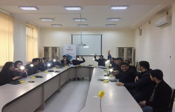 Solar Lamp workshop was organized at Mingachevir Youth Centre, Azerbaijan where several youths volunteered.