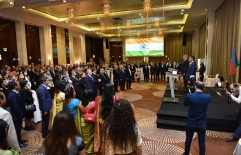 To mark the 71st Republic Day, Ambassador of India hosted National Day Reception in Baku.