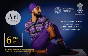 'Art Yoga' session on 6th February 2020 at the Embassy.