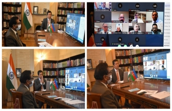 Embassy in collaboration with PHDCCI organised a multi-sector B2B meeting between businesses from India and Azerbaijan. Ambassador also addressed the opening session.