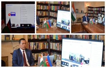 Embassy, facilitated an online presentation of BEML Limited, leading multi-technology &multi-location Government of India-owned company, on their Mining and Construction equipment to Azerbaijani Govt officials and Rep. of companies engaged in these sectors.