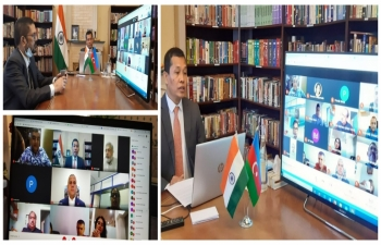Online interaction with tour operators of India and Azerbaijan organised by the Embassy in collaboration with Indian Association of Tour Operators. We thank Azerbaijan Tourism Board for their support.