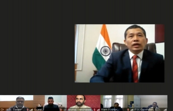 To mark the 5th #AyurvedaDay, Embassy of India organized a webinar on 13 November 2020 participated by Sri Sri Tattva, Multani Pharmaceuticals and Hamdard Laboratories among other distinguished Guests.