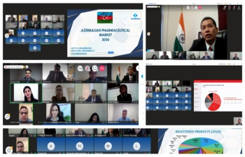 Webinar on Indian pharmaceutical products organized by Embassy of India in Baku
