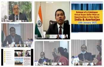 Virtual Buyer Seller Meet organized by the Embassy of India, Baku in association with APEDA to explore further opportunities in Rice Sector between India and Azerbaijan
