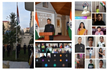 Embassy of India, Baku Celebrated 72nd Republic Day of India.