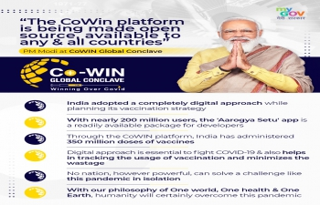 #CoWIN as a Digital Public Good to the World.