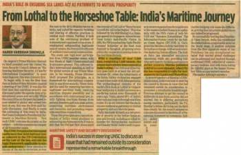 """#PMChairsUNSC was a momentous occasion, emblematic of India's global stature and standing and rich maritime history. Foreign Secretary encapsulates this as """"From Lothal to the Horseshoe Table""""."""