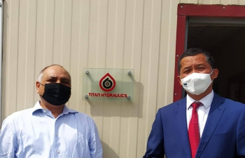 Ambassador visited M/s Titan Hydraulics MMC, an Indian engineering sales and services company in Baku on 03 September 2021 and interacted with its Director and staff on their operations.